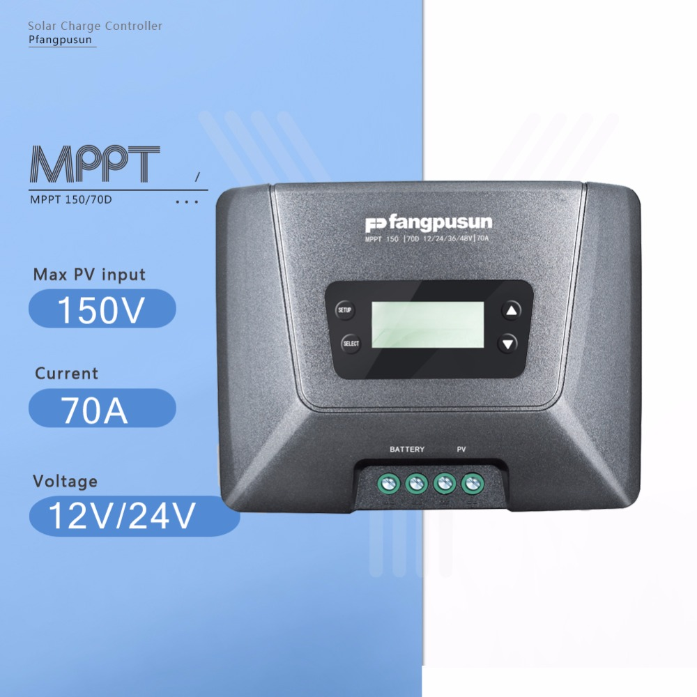 MPPT 150/70D 70A Solar Charge Controller 12V/24V/36V/48V Auto Max 150V Solar Panel Battery Charge Regulator with LCD Display beautiful and pract fabric rear trunk security shield cargo cover black for toyota rav4 rav 4 2006 2007 2008 2009 2010 2011 20