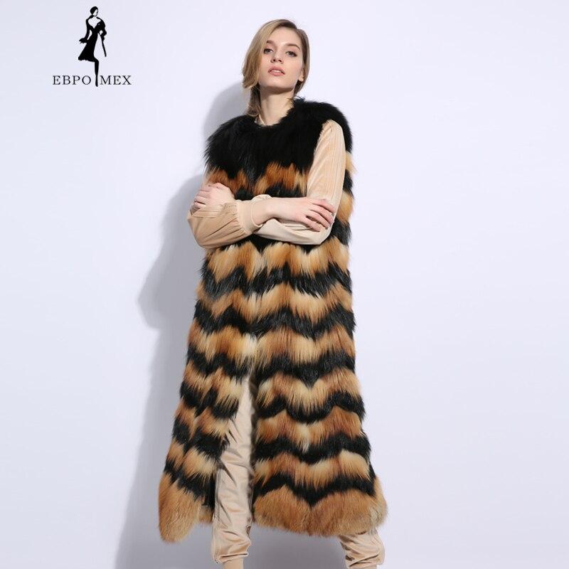 Renard Femmes Gris Ondulation En 2018 Manteau L'eau Naturel Gilet Mode Fourrure Cuir Mince green Véritable Casual Boutique golden Blue Bleu De ICIw1zq7