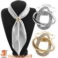 2016 de Doble propósito bufanda accesorios de la joyería de oro plateado aleación twine bufanda clip de broche bufanda broche de diamantes de imitación
