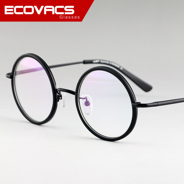 f0ca844545 43mm 47mm Retro Round Glasses Frame Women Men Branding Eyeglasses Frames  Transparent Eyeglass Clear Optical Lens