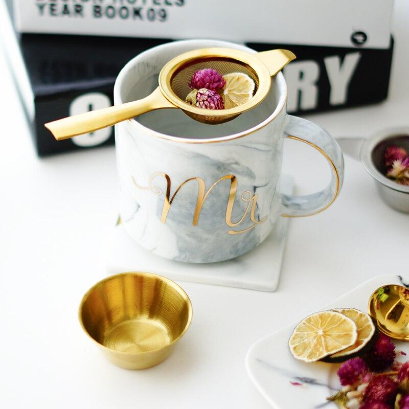 Stainless Steel Tea Infuser Afternoon Tea Filter Long Handle Mesh Tea Strainer with Drip Bowl loose Leaf Green Herb Tea Accessories  (6)