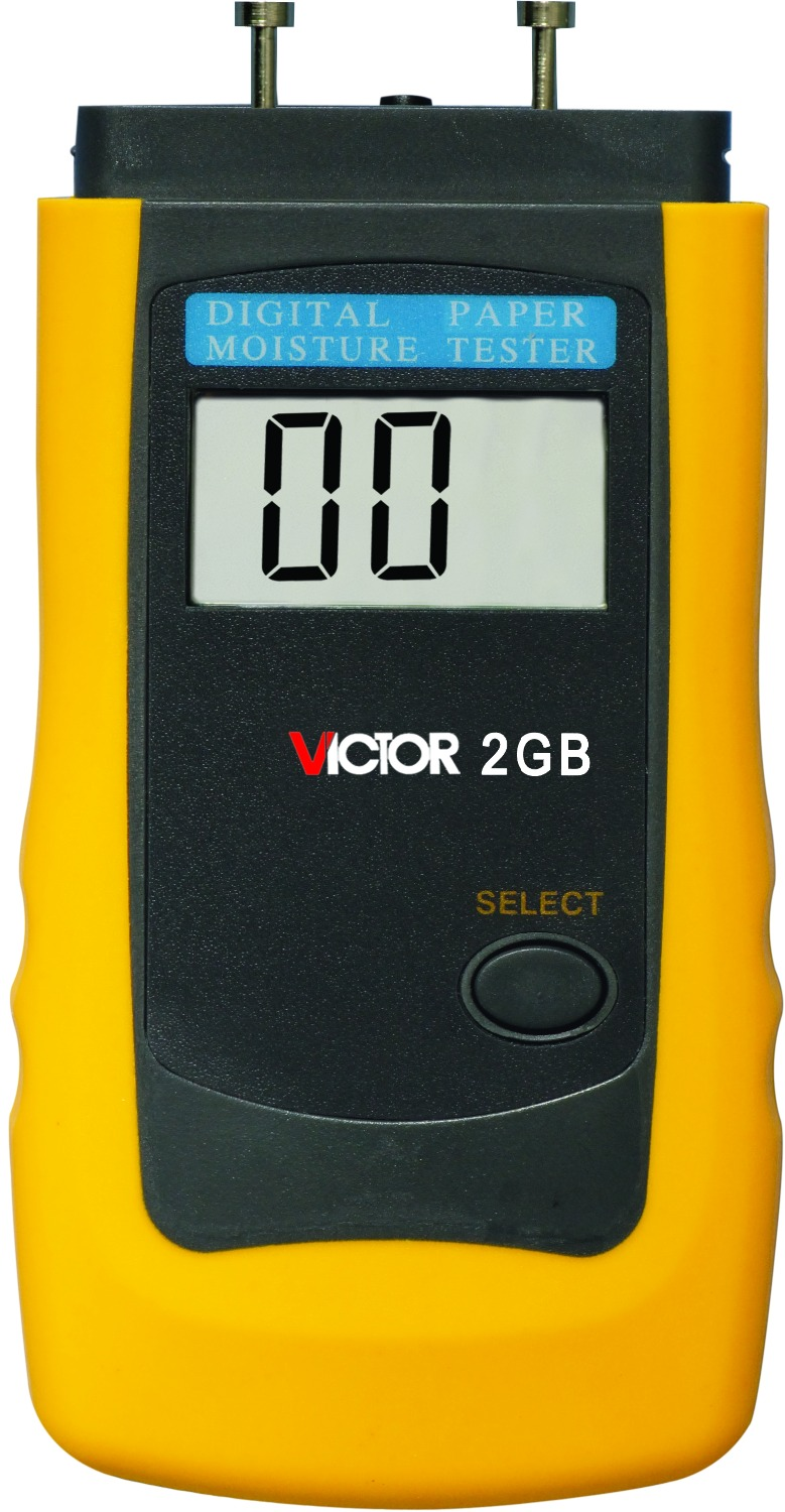 VICTOR 2GB LCD Intelligent paper Moisture Tester meter digital lcd thermometer car-detector 2 2 lcd digital paper moisture meter tester dark grey 1 x 9v 6f22