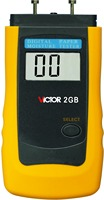 VICTOR 2GB LCD Intelligent paper Moisture Tester meter digital lcd thermometer car detector