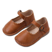 New Baby Soft bottom Shoes Children Flats Genuine Leather Breathable Princess Girls Dance Shoes Toddler Kids Leather Shoes 02A цена