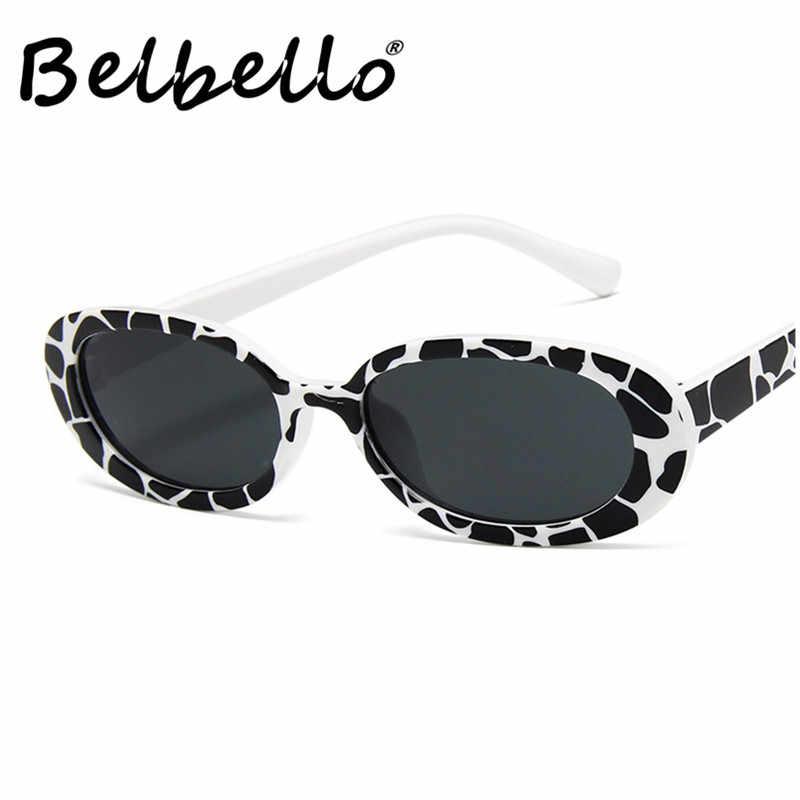 ae8a13ce400a Belbello Wrap Oval Acrylic Sunglasses Dairy Cattle Color Sunglasses Europe  America Sunglasses Women Fashion Hip hop