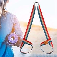 Réglable Tapis De Yoga Sangle De Transport Sling Stretch Ceinture Bande  avec Bouton Accessoires De Yoga 88c32135b2f