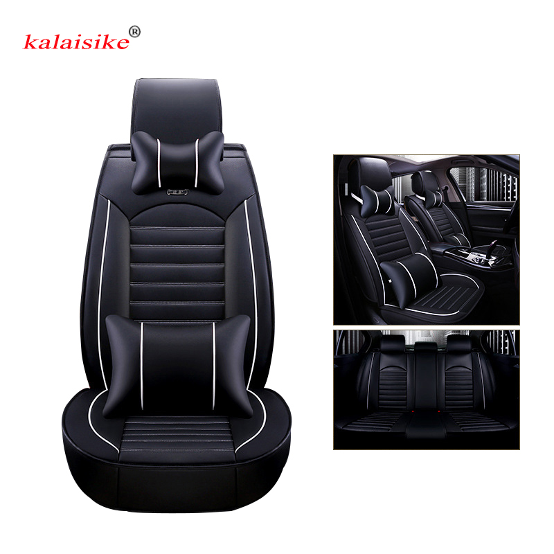 Kalaisike leather Universal Car Seat covers for Honda all models civic accord fit CRV XRV Odyssey Jazz City crosstour crider carbon fiber leather car remote key case chain keyless fob cover for honda civic 2017 accord fit crv cr v xrv crosstour hrv jazz