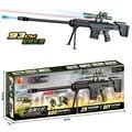 Arma de Brinquedo de plástico de Água de Cristal Bala Arma Barrett Rifle Sniper Arma Panitball Arme Orbeez Brinquedo