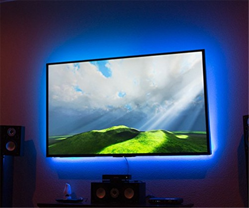 Usb Led Strip Light 5050 Rgb 30leds 1m Ip65 With 20key Remote Tv