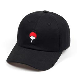 Семья Uchiha хлопок японского аниме Наруто папа шляпа 100% логотип вышивка бейсболки для женщин черная бейсболка хип хоп для мужчин