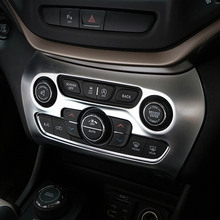 interior accessories parts for jeep cherokee Center console dashboard air conditioning penal button model cover sticker trim