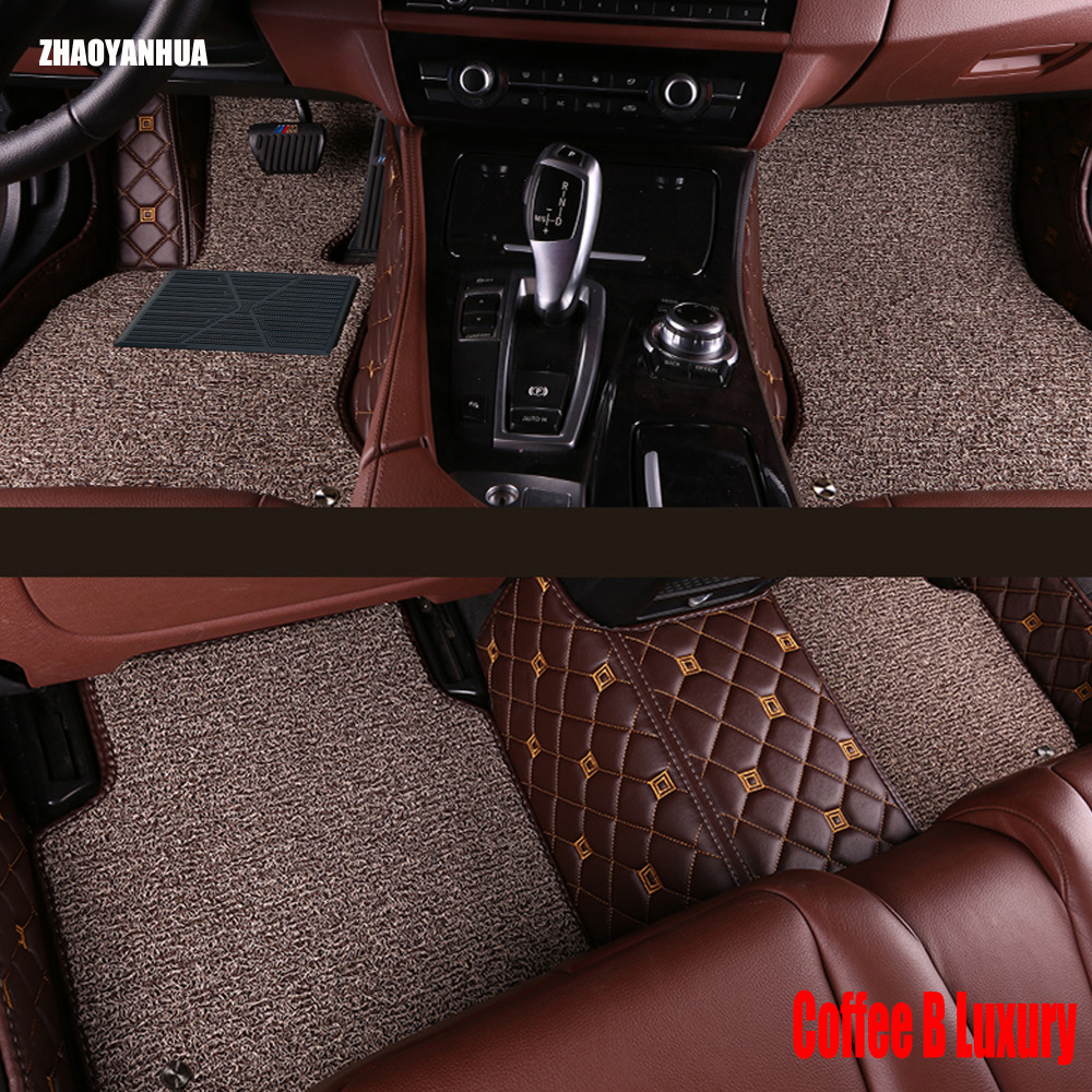 ZHAOYANHUA Car floor mats for Citroen C5 C4 Air Cross Picasso C2 C-elysee DS5 LS DS6 5D car styling carpet floor liner for citroen c4 picasso ud