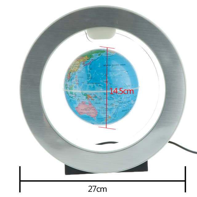 Decorative LED Light Levitation Floating World Map  4
