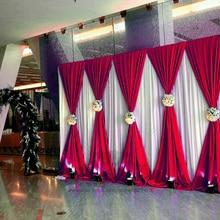 3X6 м свадьба фон Шторы Свадебные шторы/этап фон для свадебного мероприятия и вечерние и банкетов украшение(лайкра крышка стула
