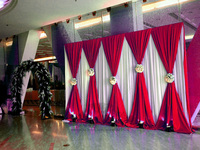 3X6M Wedding Backdrop Curtain Wedding Drapes/Stage Backdrop For Wedding Event&Party&Banquet Decoration(Lycra Chair Cover)
