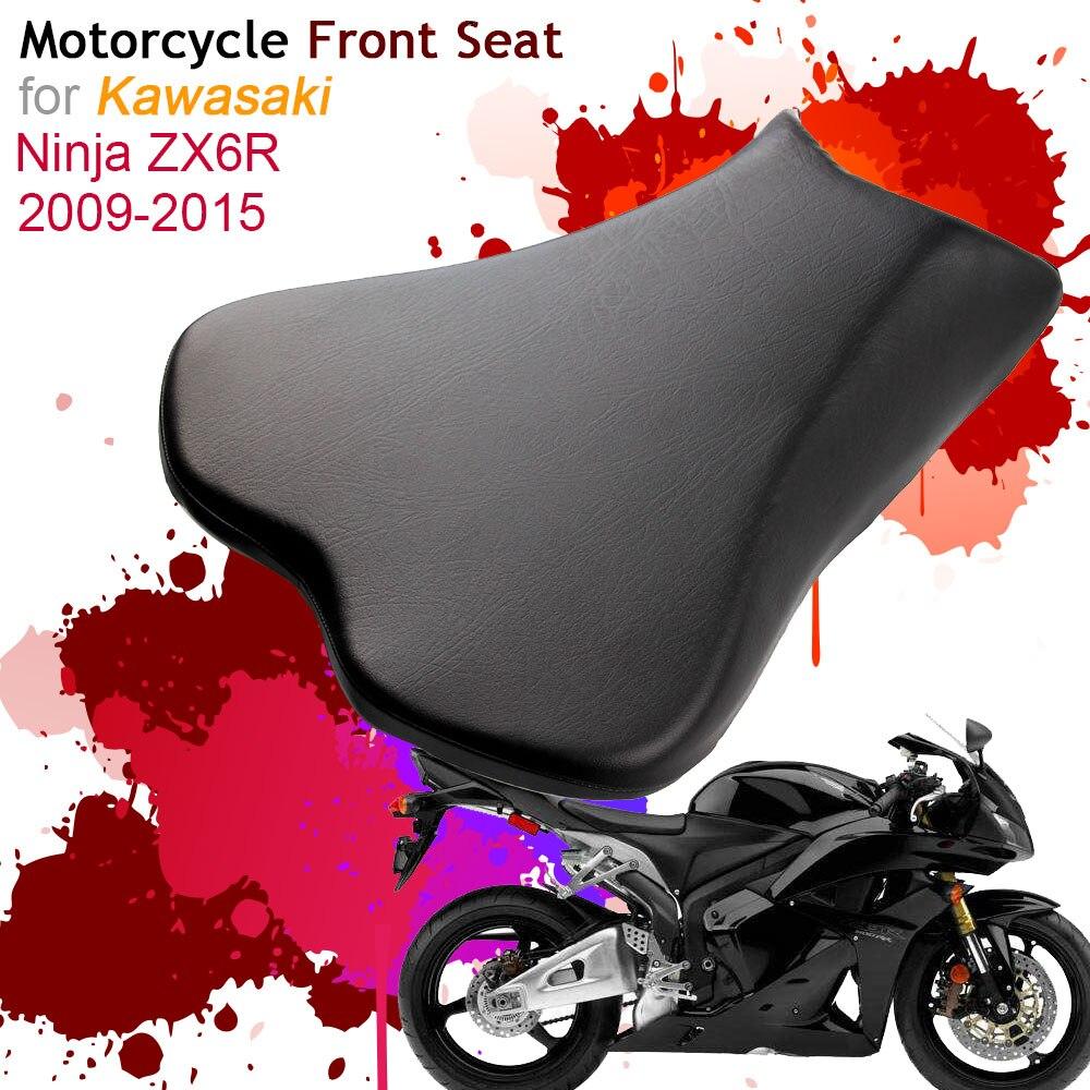 Pour Kawasaki Ninja ZX6R 2009-2015 housse de siège avant coussin en cuir oreiller ZX6R 09-15 moto pilote siège