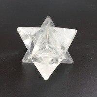 Beautiful Polished Transparent Crystal Clear Quartz Merkaba star