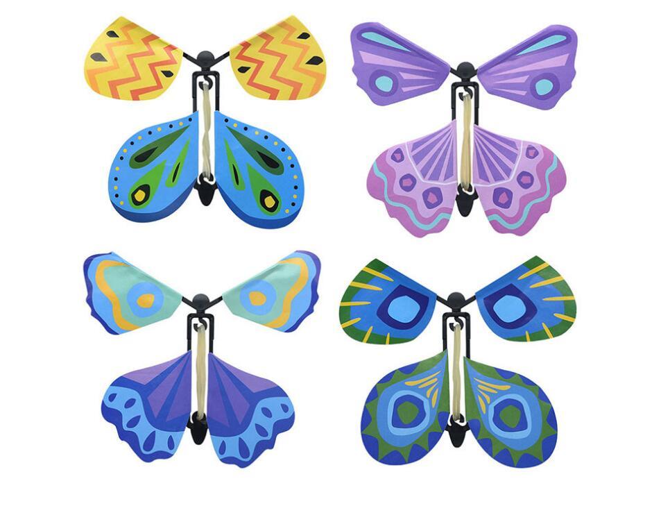 Vente en gros 100 pièces lot magie papillon volant des mains vides liberté papillon tours de magie mentalisme magie bébé jouet accessoires de magie - 5