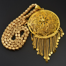 Anniyo Dikke Ketting En Grote Hanger Voor Vrouwen Mannen Ethiopische Afrikaanse Goud Kleur Sieraden Nigeria Geschenken #064506