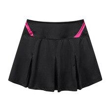 Женская плиссированная теннисная юбка с шортами, высокая талия, Tenis Mujer, юбка-шорты, Спортивная юбка размера плюс, юбка для йоги, спортзала, спортивная одежда