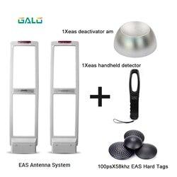 System eas drzwi antywłamaniowe am alarm z twardymi etykietami tagi i dezaktywator i ręczny miernik częstotliwości