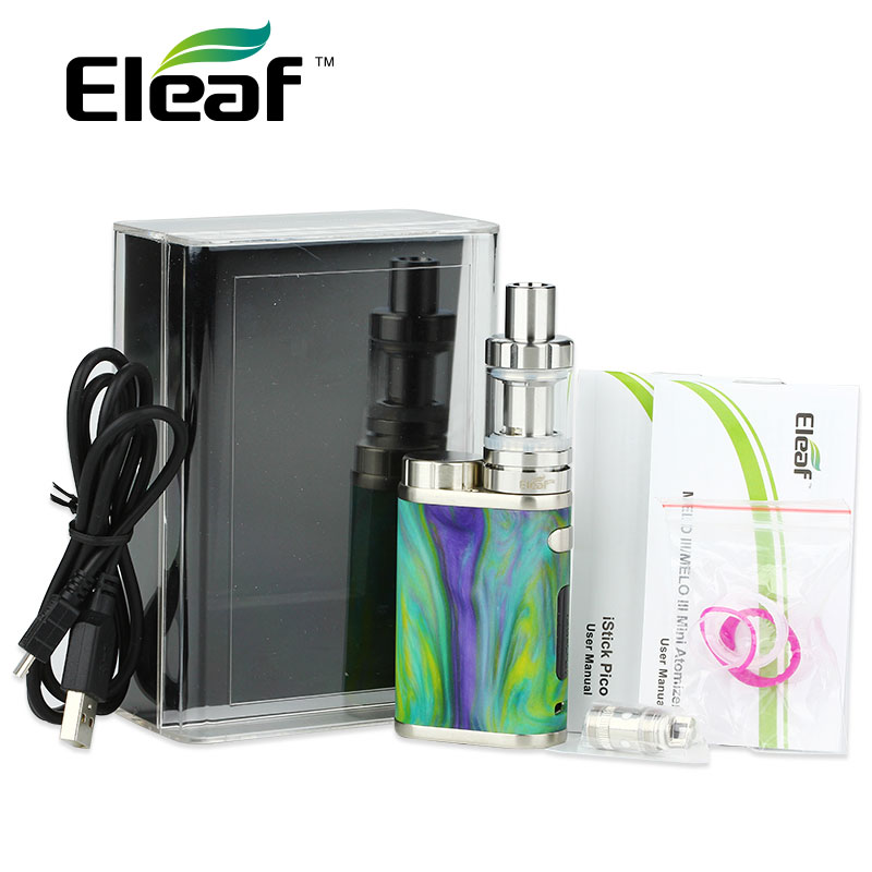 New Original Eleaf iStick Pico RESIN Kit 75W with Melo 3 Mini Tank 2ml and 75W Pico Resin Mod 510 Thread Vapor Random Color