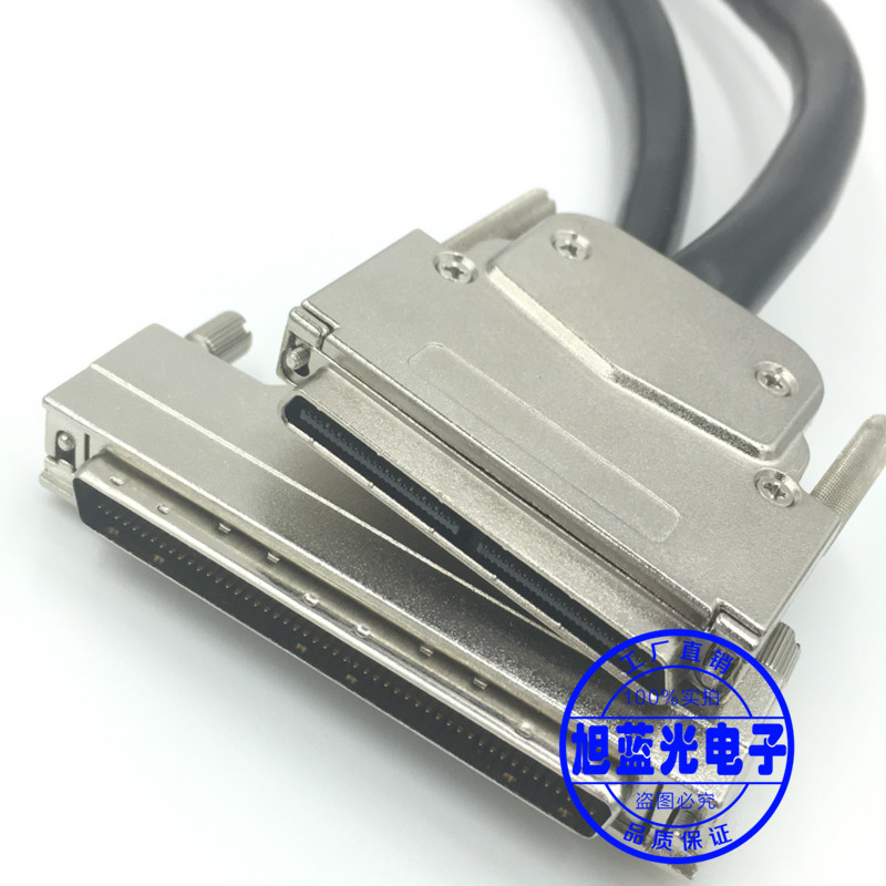 SCSI Cable VHDCI100 to DB100 Male to Male Connecting Line V100 to HPDB100 V100M/FMD100M V100M/FMD100M-CAS-AS hpdb68 scsi cable male to male m m db68 pin cable professional customization 100