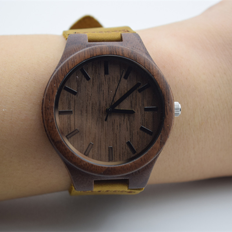 New Fashion Walnut Wood Watch For Mens Gifts Birthday Gift For Husband And Boyfriend With Japan MIYOTA Movement With Idea Box in Quartz Watches from Watches