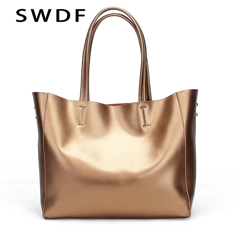 SWDF Special Offer 2017 Fashion 100% Cowhide Women High-End Luxury Leather Handbags Shoulder Bags Top-handle Bags Female Bag special make 100