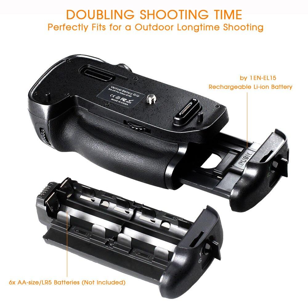 Travor verticale batterie support de prise en main pour Nikon D750 DSLR Caméra avec EN-EL15 batterie comme MB-D16 - 3