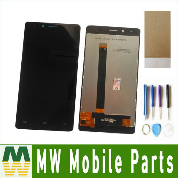 1 PC/Lot  For BQ BQS-5060  BQS 5060 Slim  LCD Display +Touch Screen Assemble Replacement Black White Color with tools+Tape