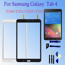 For Samsung Galaxy Tab 4 8.0 T330 T331 T332 T335 T337 Touch Screen Panel Front Glass Sensor Parts Digitizer LCD