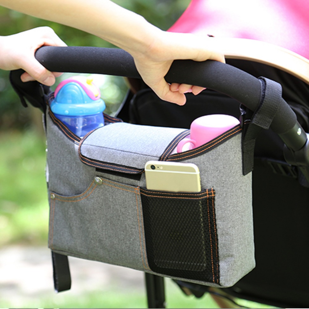 Baby Stroller Bag High Capacity Mother And Baby Products Infant Carriage Mommy Bag Waterproof Oxford Cotton Bags for Mom Use