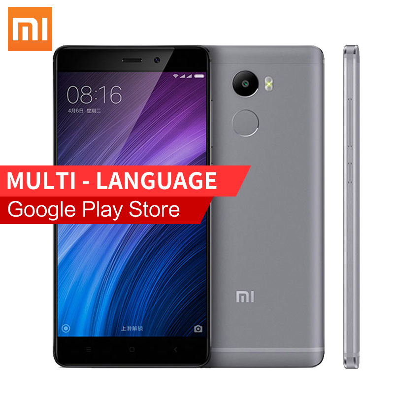 Original Xiaomi Redmi 4 Mobile Phone 2GB RAM 16GB ROM Snapdragon 430 4100mAh Battery Fingerprint ID