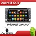 Монитор 2 ДИН Автомобильный DVD Android Авто GPS Dvd-плеер Радио Стерео В Тире MP3 Автомагнитолы CD Quad Core HD TV Видео Аудио Для VW Универсал