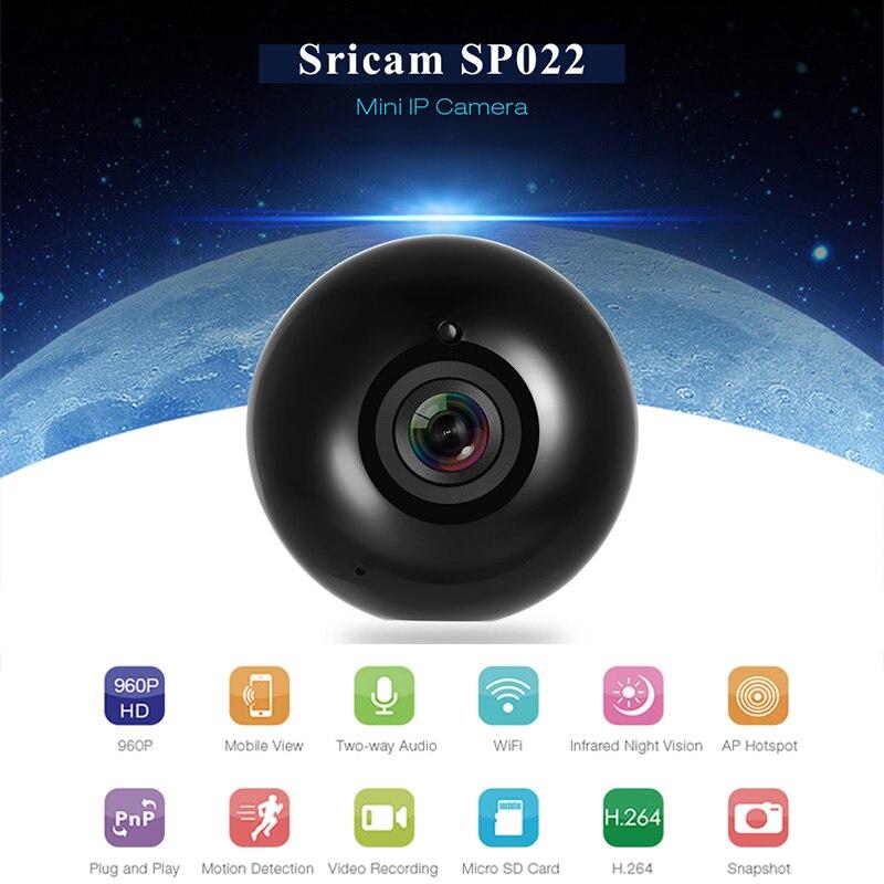 Sricam SP022 Panorama Telecamera ip HD Mini WiFi Video P2P Telecamera di Sorveglianza di Sicurezza Domestica Baby Monitor Dell'interno Telecamera A Infrarossi