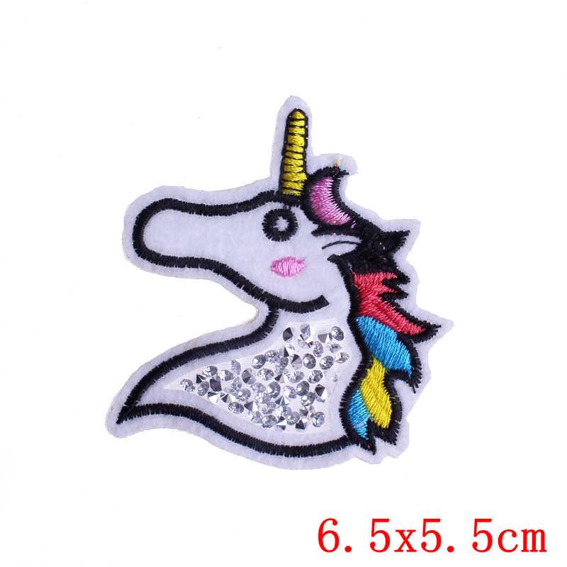 Prajna Toppe e Stemmi Unicorno Cavallo Bianco di Nuovo Modo di Ferro Su Patch di Carino Sew On Applique Striscia Sul Vestito di Stoffa Borse FAI DA TE tessuto Applique