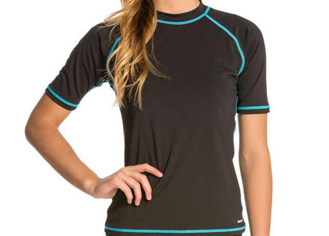 d0b7b78b70cac UPF50+ Women Rashguard swim shirt plus Size UV protection Snorkeling  Surfing Windsurfing lycra wetsuit rash guard