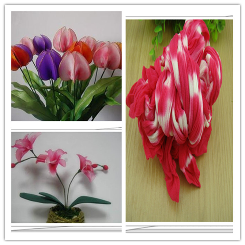 54 Colors Mix Shipping Or Only One Color Ship Double Color Stocking Flowers/nylon  Flower /silk Flower Making/ DIY Flowers Craft
