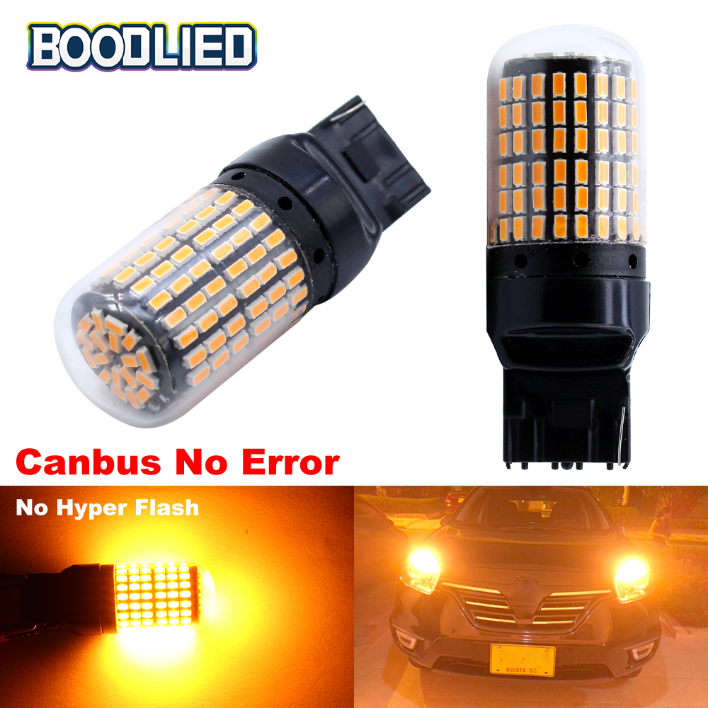2pcs T20 7440 W21W LED Bulbs Canbus No Error For Car Turn Signal Reverse Lights DRL Lamp No Hyper Flash Amber Yellow White 12V купить в Москве 2019
