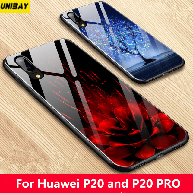 online store 4c954 8eb94 US $15.98 |Huawei p20 Pro tempered Glass Back Cover 9H Anti Explode Case  For Huawei p20 Lite Hard Case huawei nova 3e p20 case cover-in Fitted Cases  ...