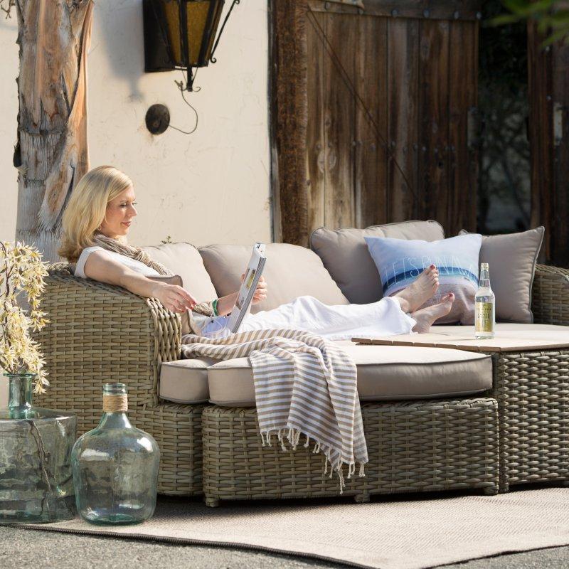 allweather muebles de jardn sof de mimbre de resina muebles para el hogar