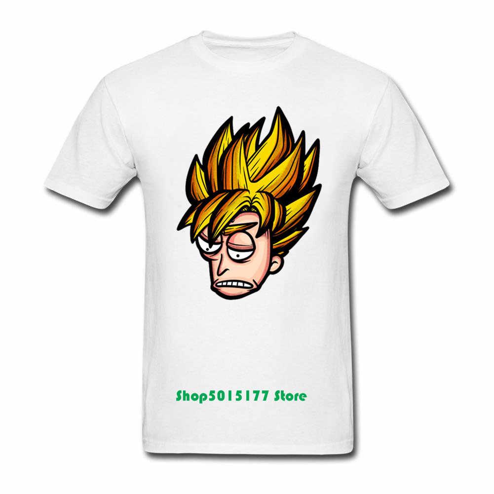 Новый дизайн Рик и Морти Мужская футболка крутая Аниме Повседневная Рик и Морти Рик Супер Саян футболка хлопок Dragon Ball Z Goku