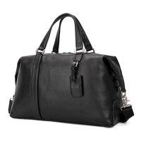 Натуральная кожа Дорожная сумка Европейский стиль дизайн из воловьей кожи для женщин мужчин выходные сумка