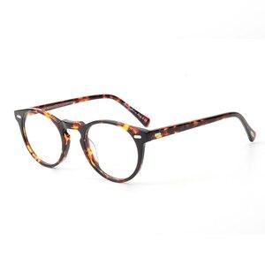 Image 2 - Gregory peck ov5186 vintage óculos mulher quadro claro óculos redondos homens armação óptica para prescrição lente óculos redondos