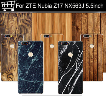 Wood grain 5.5 For ZTE Nubia Z17 nx563j Snapdragon 835 Cover Case Hard PC For ZTE Nubia Z17 nx563j Back Cover Phone Case Shell image