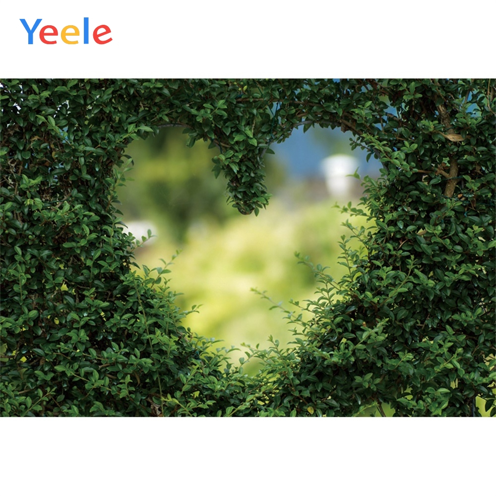 Yeele Landscape Grass Background Love Heart Wallpaper Photography Backdrop Personalized Photographic For Photo Studio