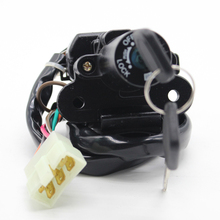 Motorcycle Ignition Switch Lock Key 6 Wires for Kawasaki Ninja 250R EX250F2/F3/F4 ZX900B ZX9R ZX600F ZX6R