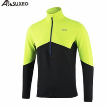 цены на ARSUXEO Running T-shirt Men Active Long Sleeves Quick Dry Training Jersey Sports Clothing Sports Tshirt For Men Running Jersey  в интернет-магазинах