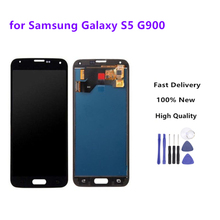 Black LCD Replacement For Samsung Galaxy S5 i9600 G900 G900F G900A Phone LCDs Display With Touch Screen Digitizer Assembly+Tools цена в Москве и Питере